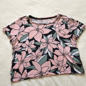 Pink flower Marine tee by Prince and Fox